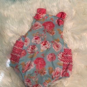 Other - Romper with ruffles on back